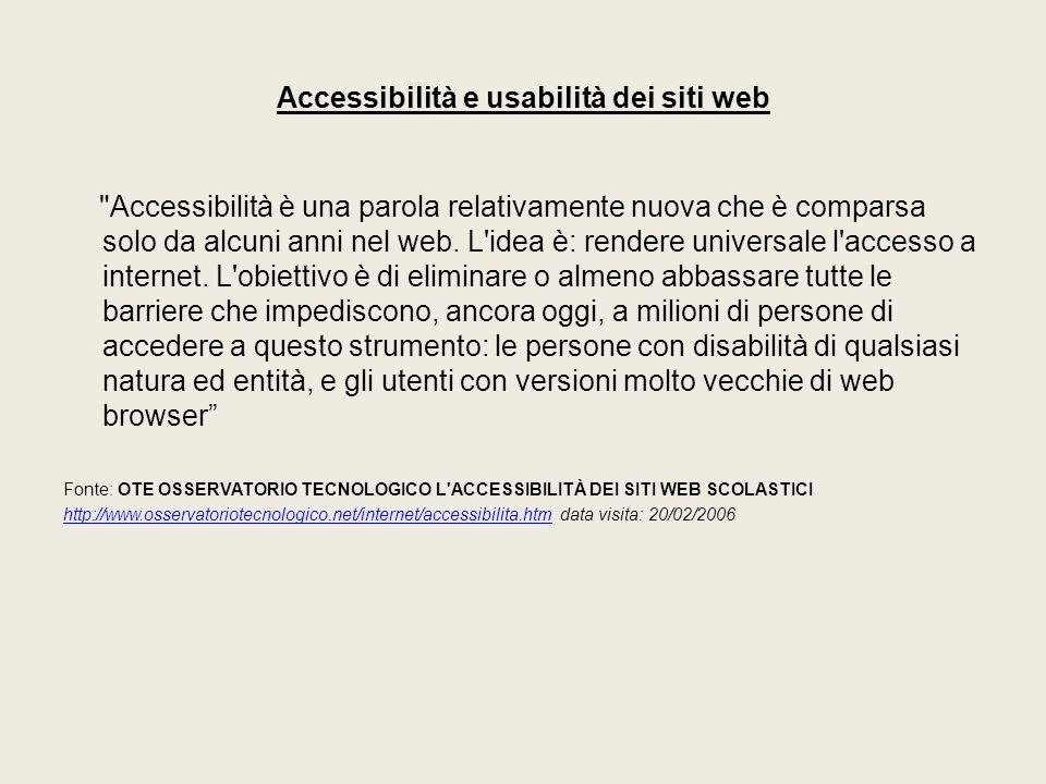 Accessibilità e usabilità dei siti web