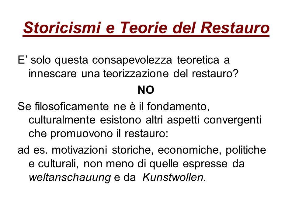 Storicismi e Teorie del Restauro