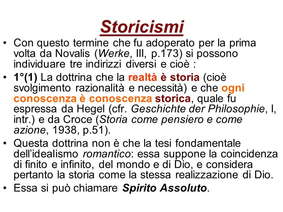 Storicismi