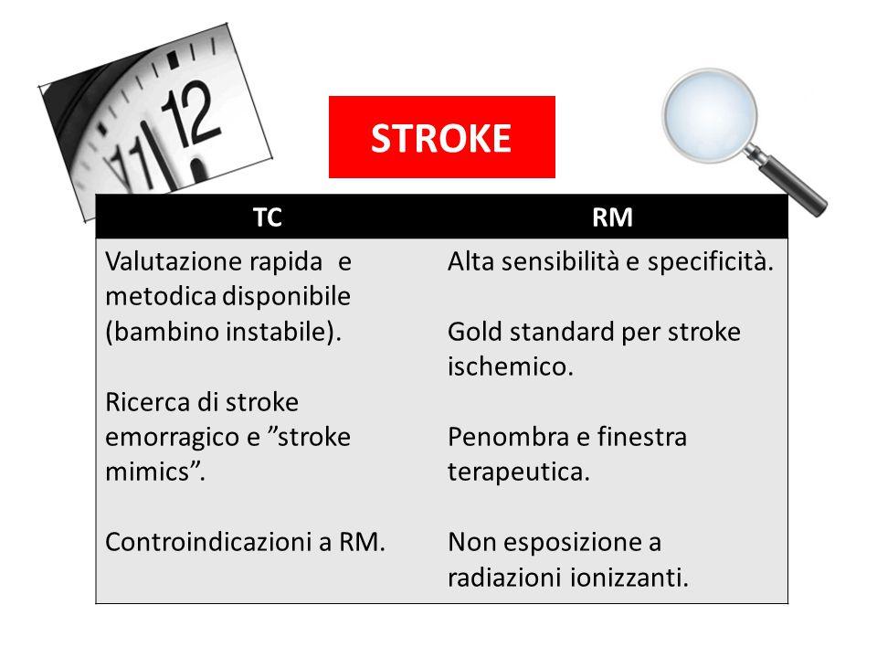 STROKE TC RM Valutazione rapida e metodica disponibile