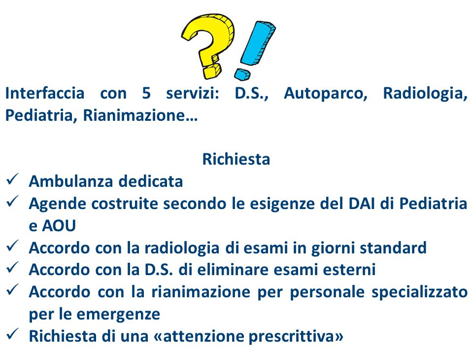 Interfaccia con 5 servizi: D. S