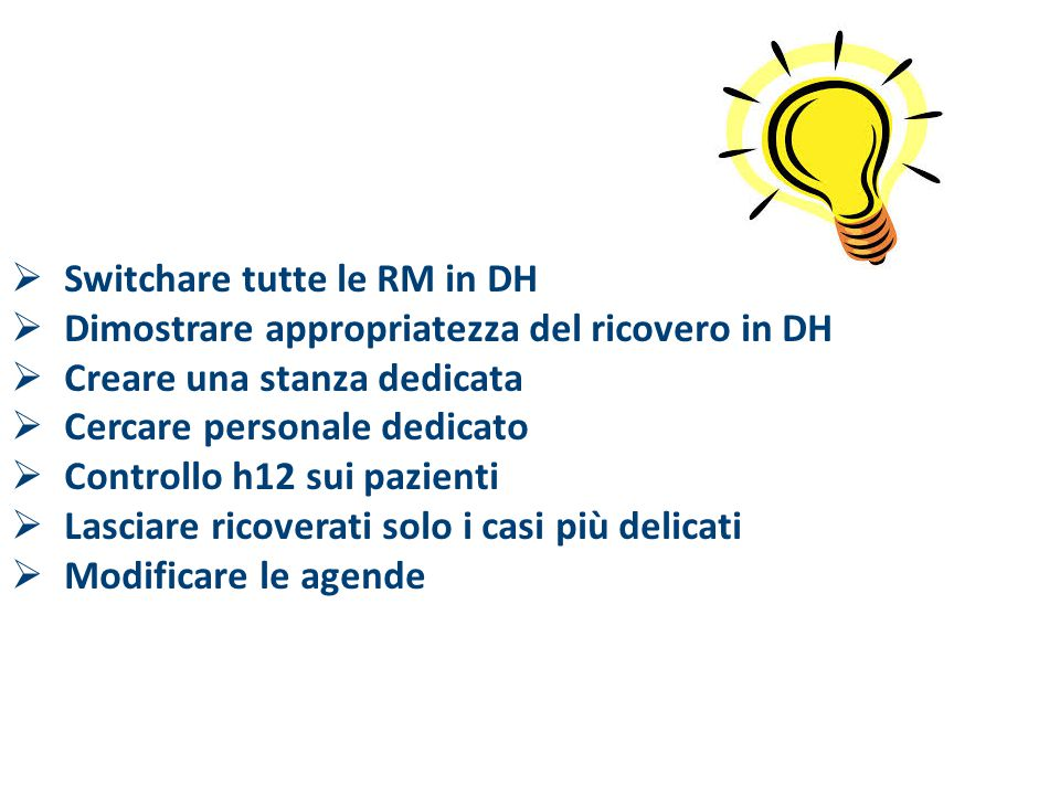 Switchare tutte le RM in DH