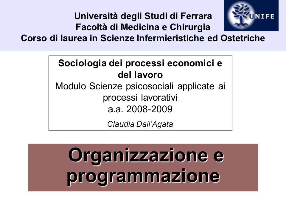 Organizzazione e programmazione