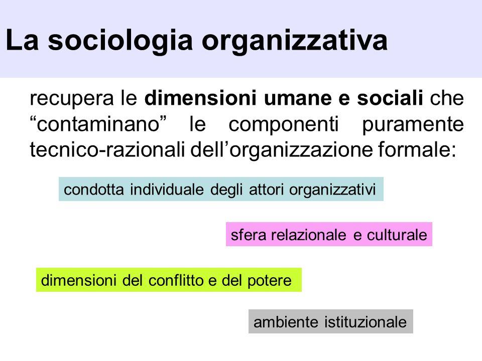 La sociologia organizzativa