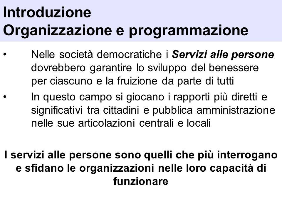 Introduzione Organizzazione e programmazione