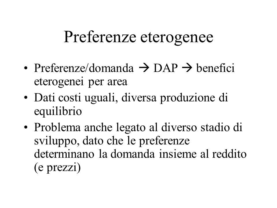 Preferenze eterogenee