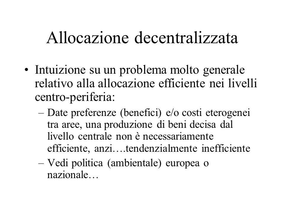 Allocazione decentralizzata
