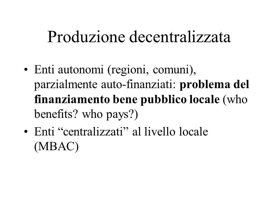Produzione decentralizzata