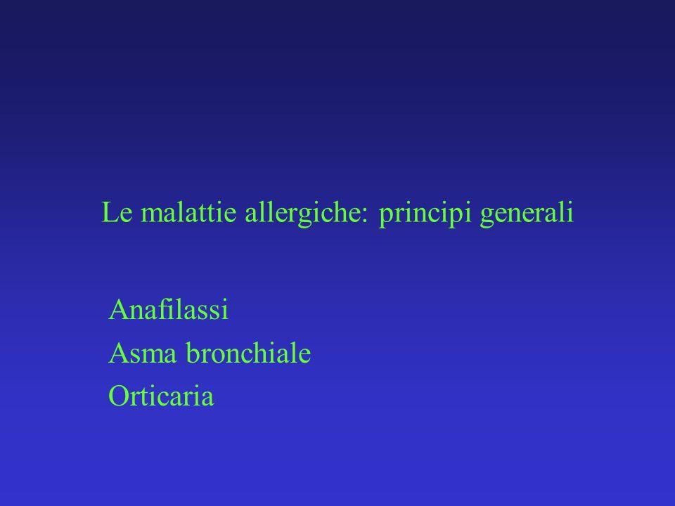 Le malattie allergiche: principi generali