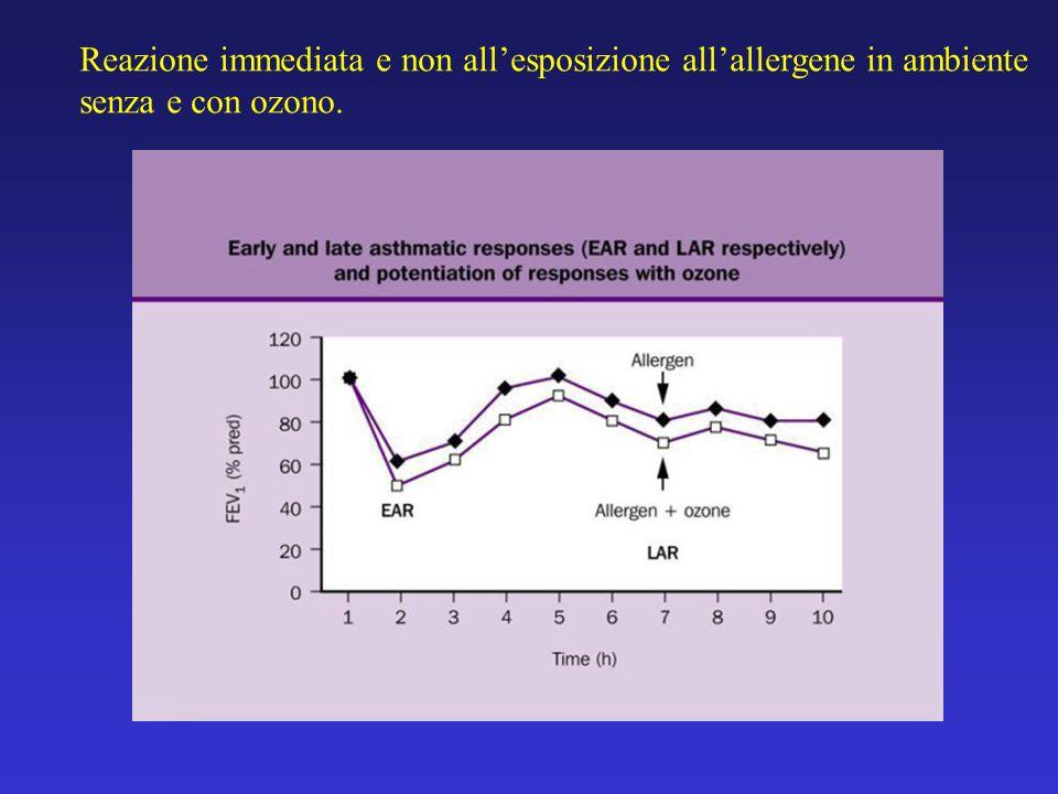 Reazione immediata e non all'esposizione all'allergene in ambiente