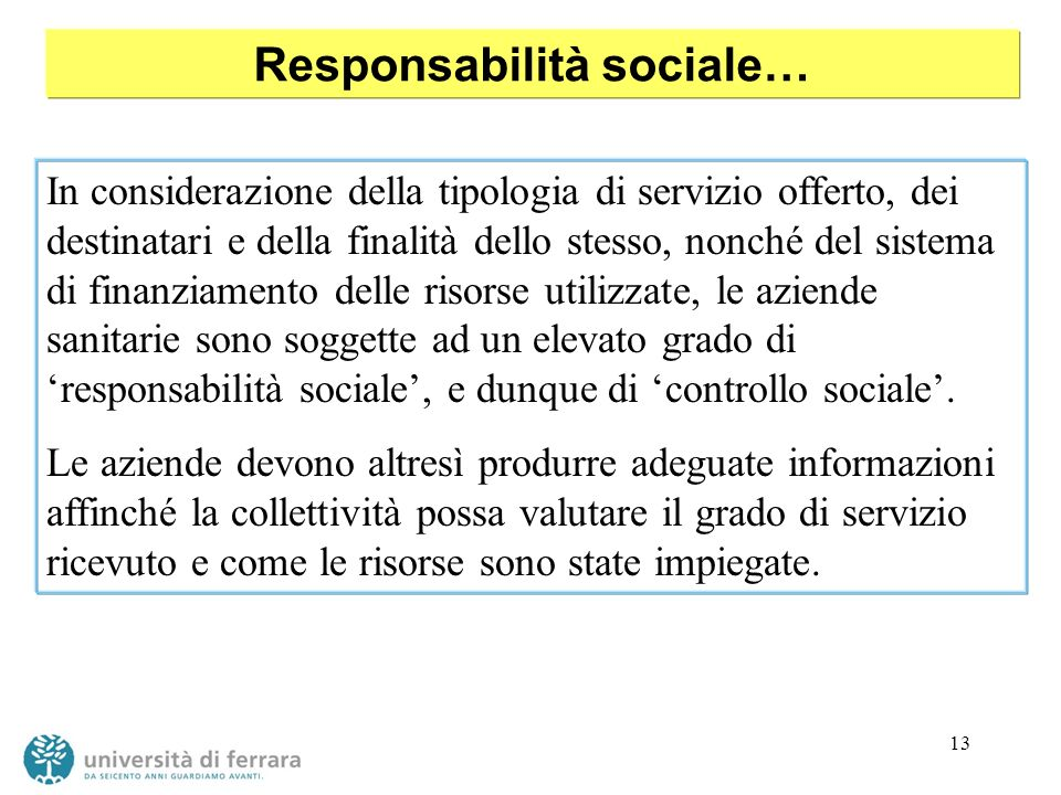 Responsabilità sociale…