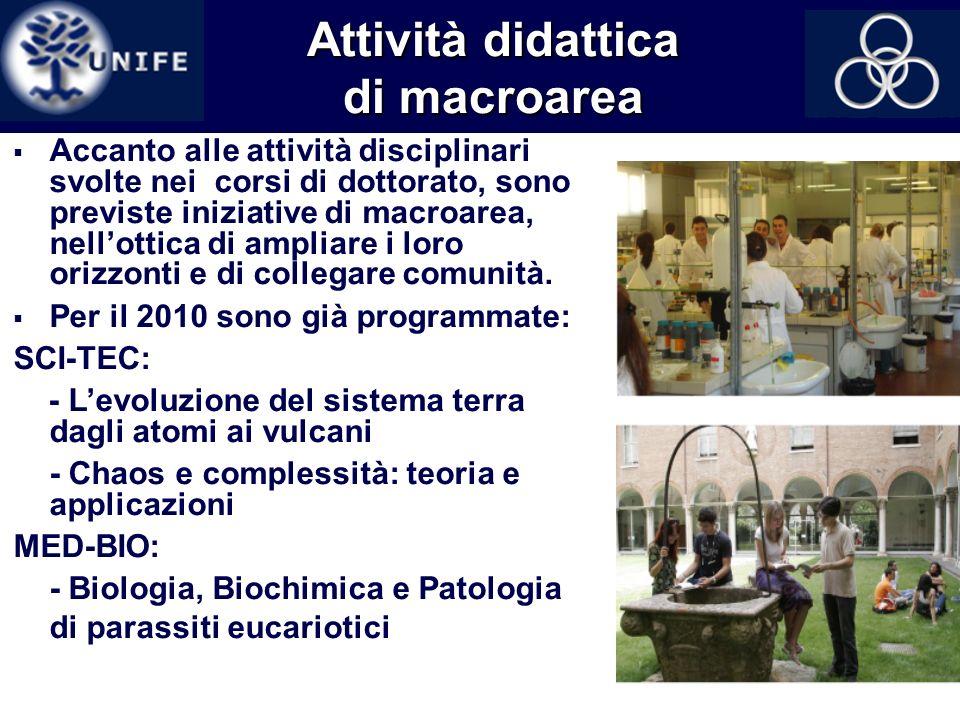 Attività didattica di macroarea