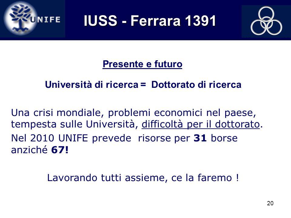 Università di ricerca = Dottorato di ricerca