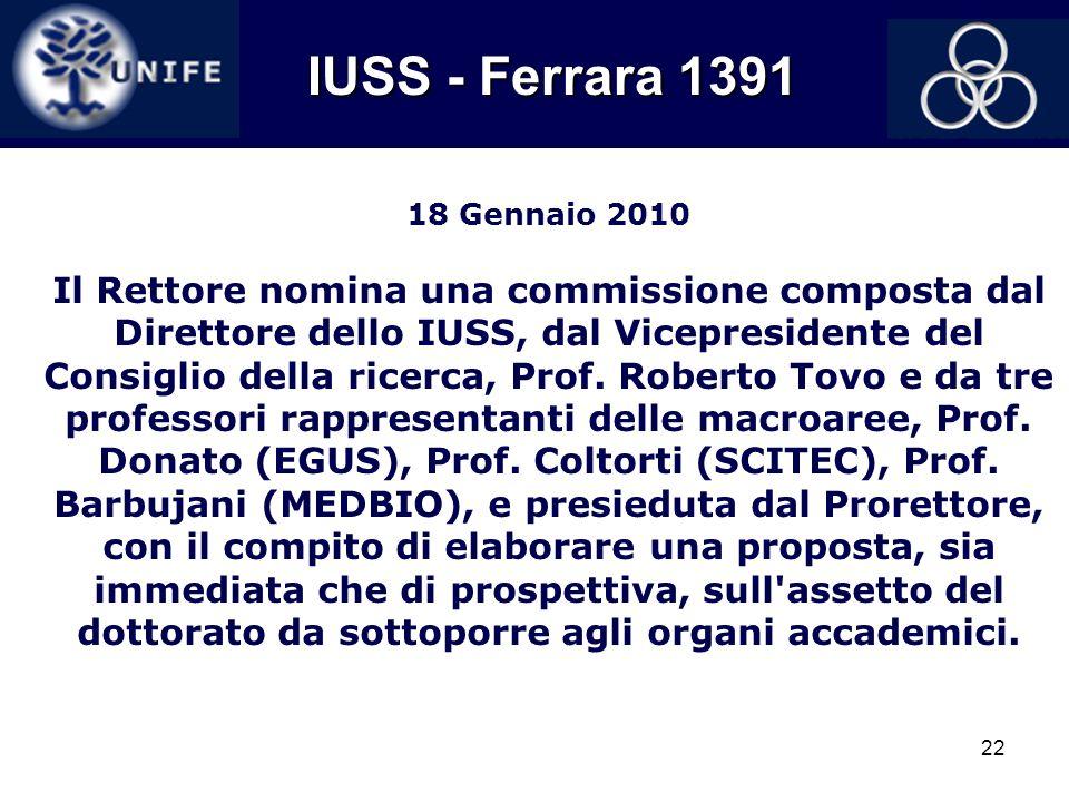 IUSS - Ferrara 1391 18 Gennaio 2010.
