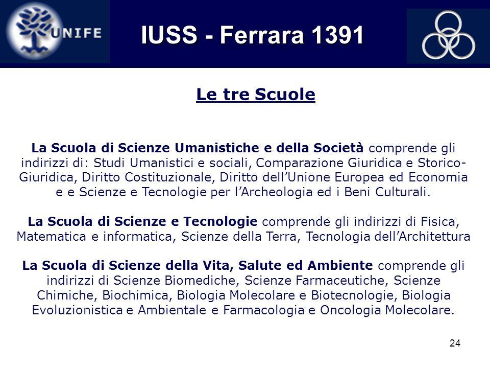 IUSS - Ferrara 1391 Le tre Scuole