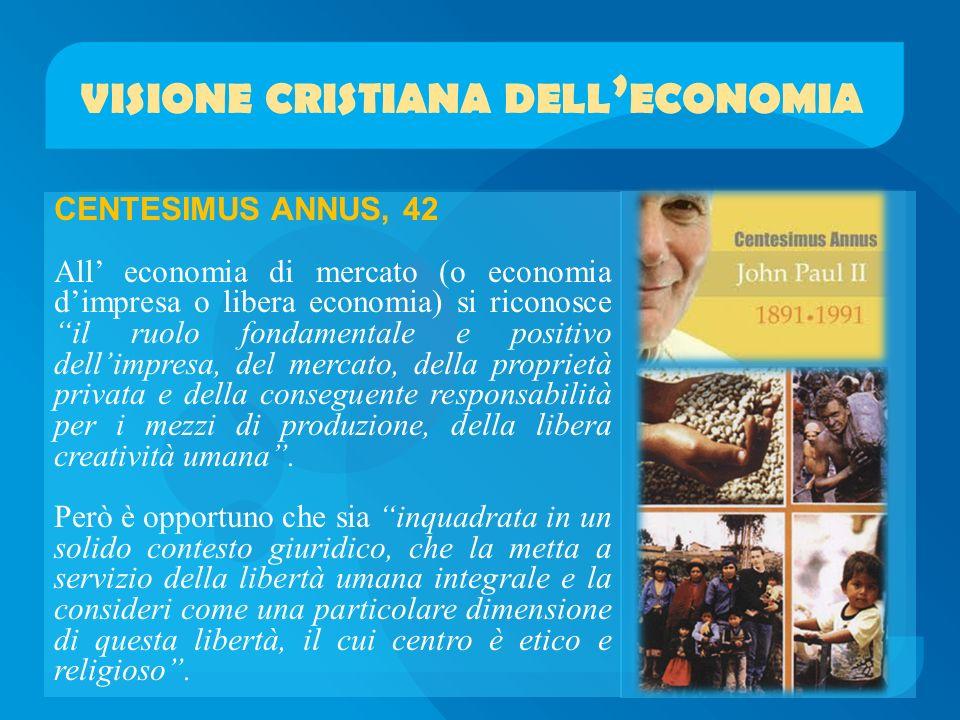 visione cristiana dell'economia