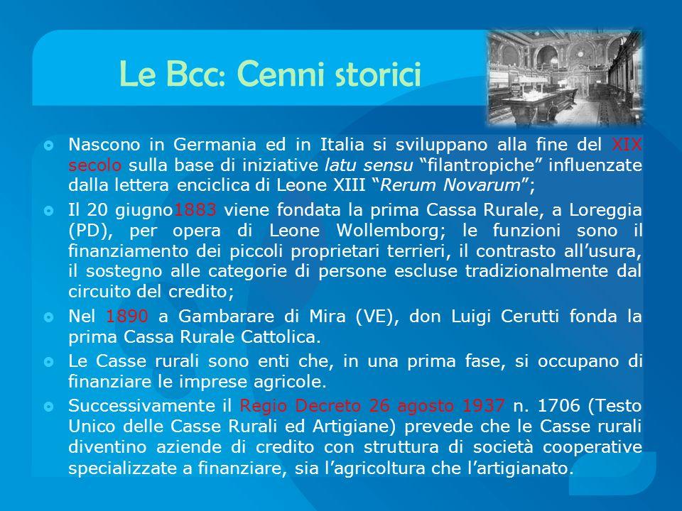Le Bcc: Cenni storici