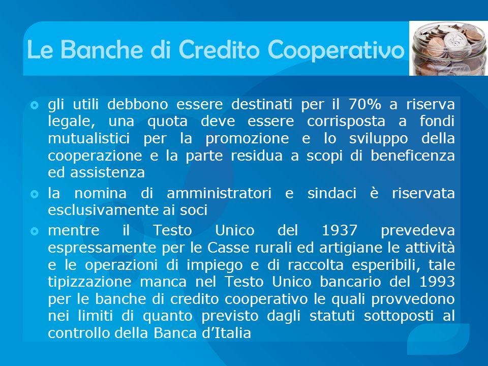 Le Banche di Credito Cooperativo