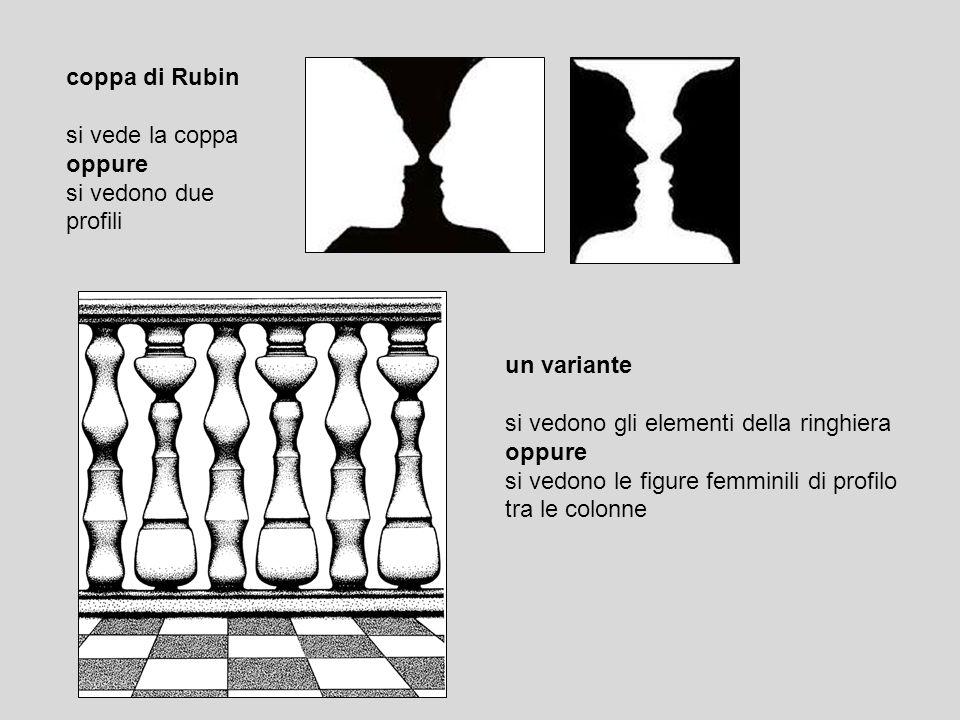 coppa di Rubin si vede la coppa. oppure. si vedono due. profili. un variante. si vedono gli elementi della ringhiera.