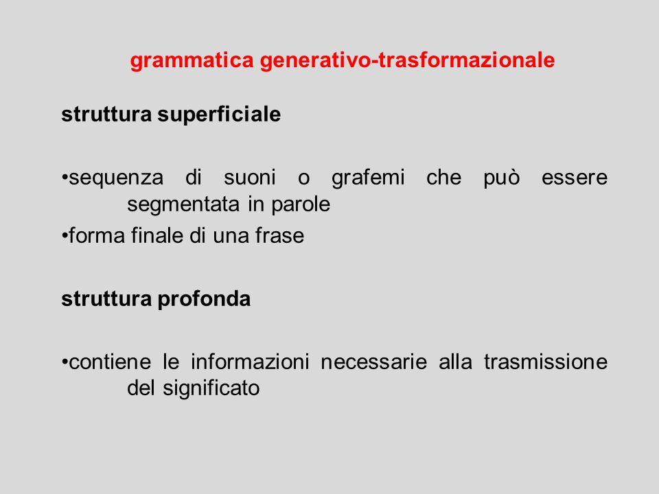 grammatica generativo-trasformazionale