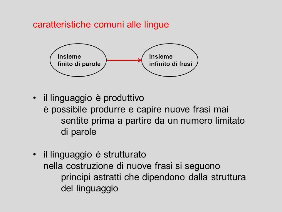 caratteristiche comuni alle lingue