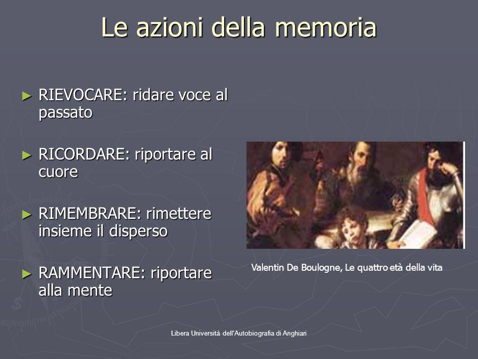 Le azioni della memoria