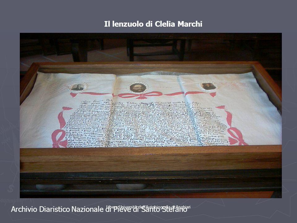 Il lenzuolo di Clelia Marchi