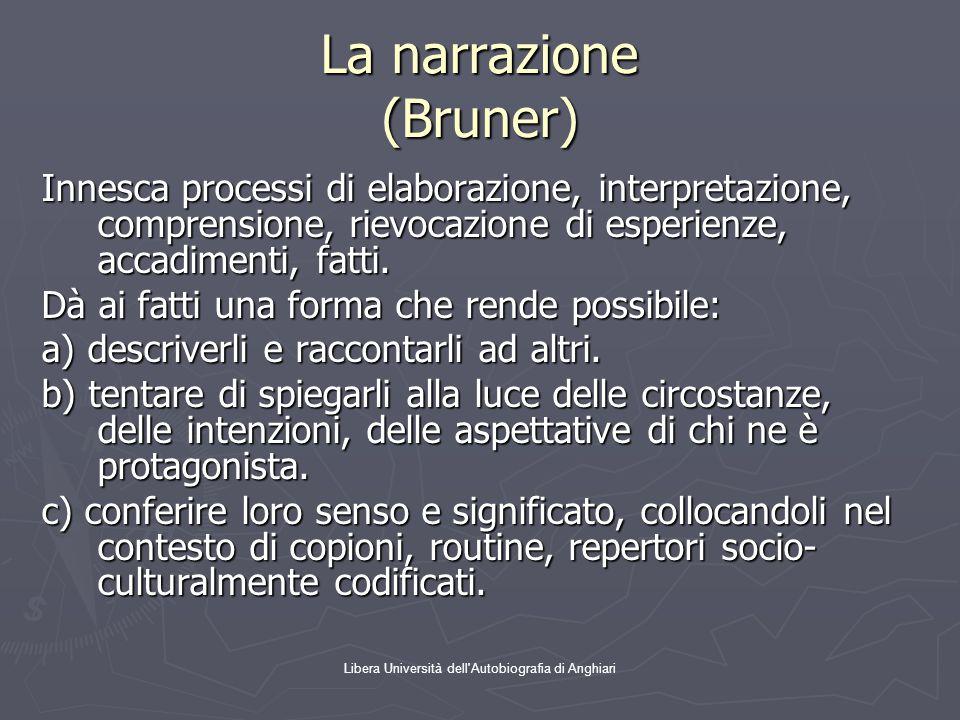 La narrazione (Bruner)