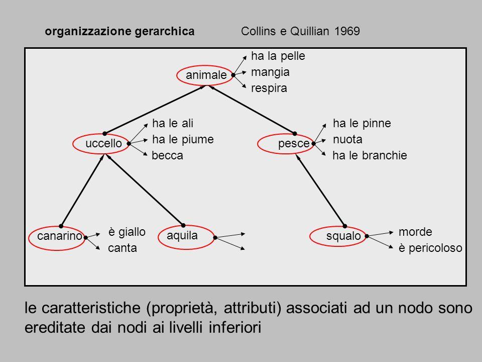 le caratteristiche (proprietà, attributi) associati ad un nodo sono