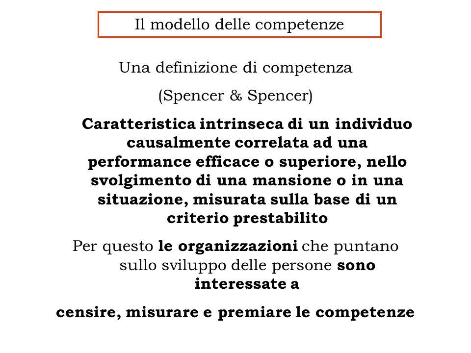 censire, misurare e premiare le competenze