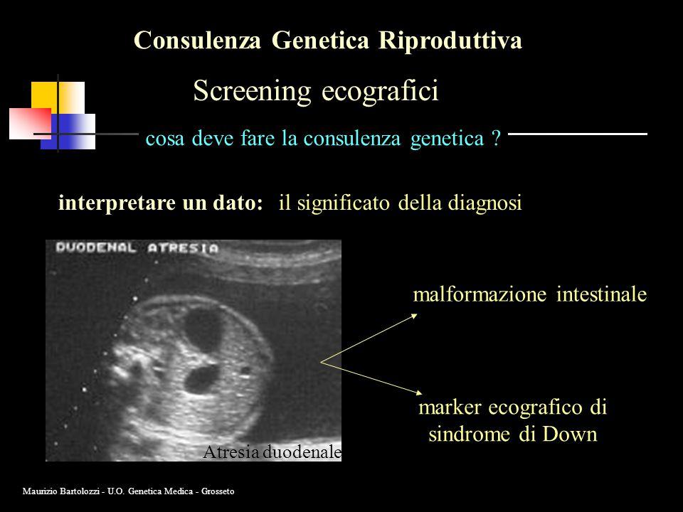 Screening ecografici Consulenza Genetica Riproduttiva