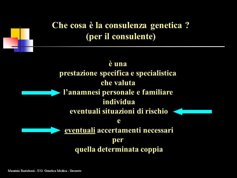Che cosa è la consulenza genetica (per il consulente)