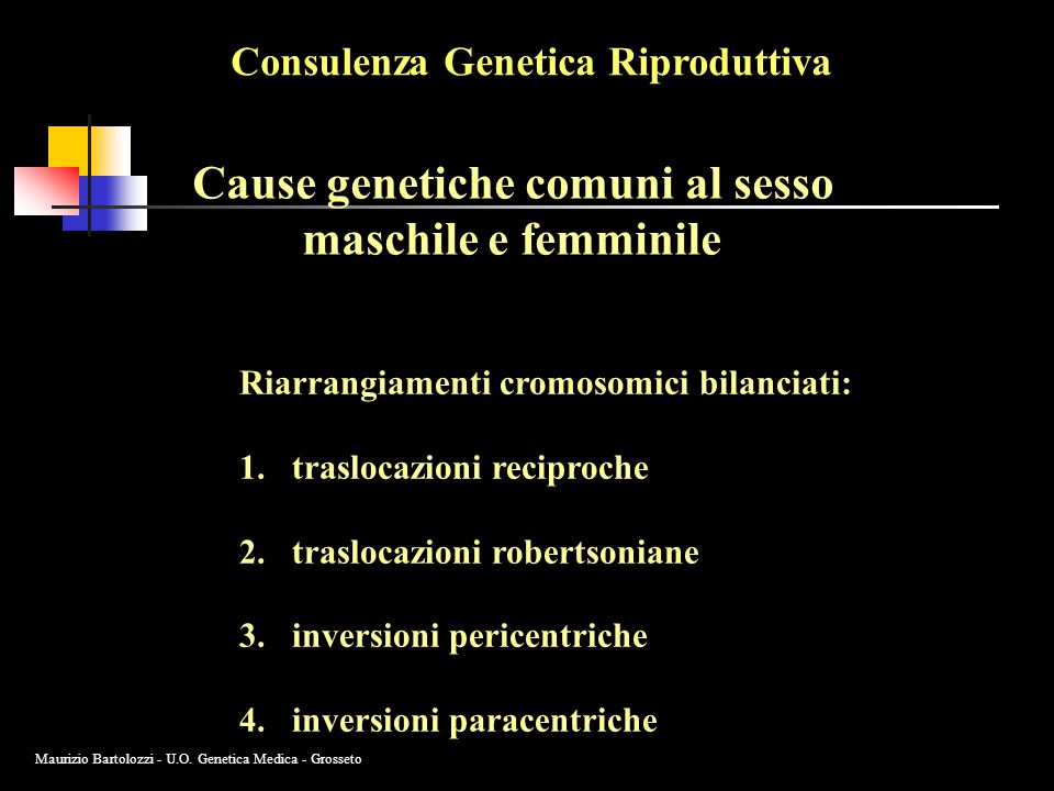 Cause genetiche comuni al sesso