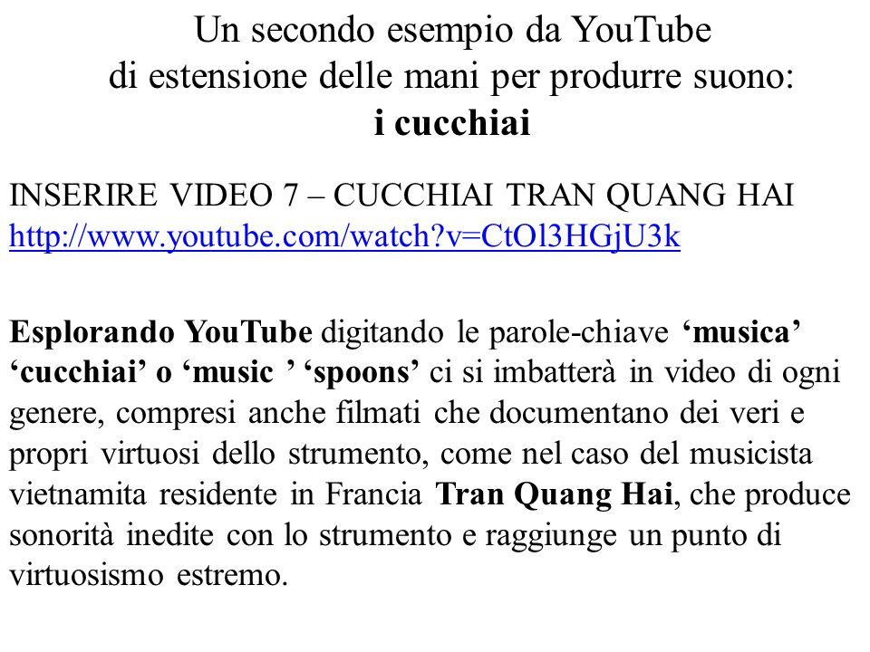 Un secondo esempio da YouTube