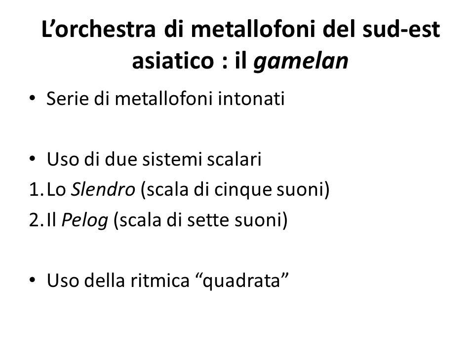 L'orchestra di metallofoni del sud-est asiatico : il gamelan