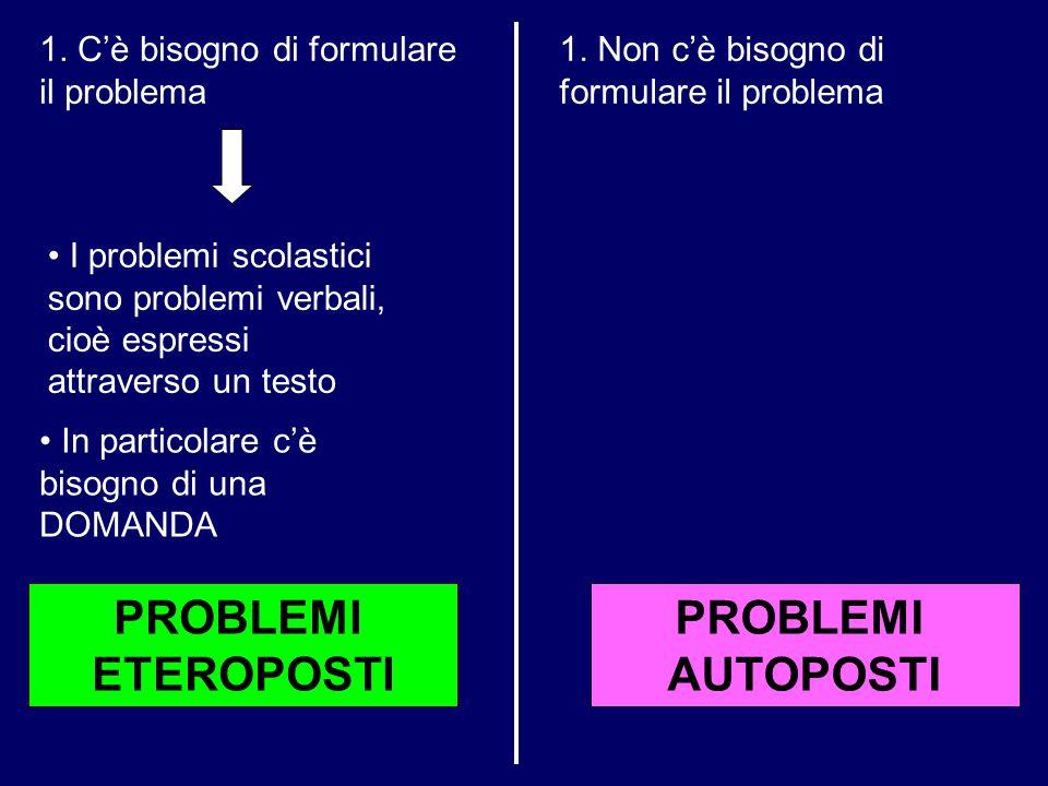 PROBLEMI ETEROPOSTI PROBLEMI AUTOPOSTI