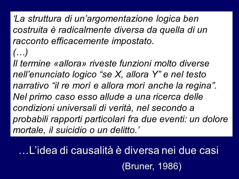 …L'idea di causalità è diversa nei due casi
