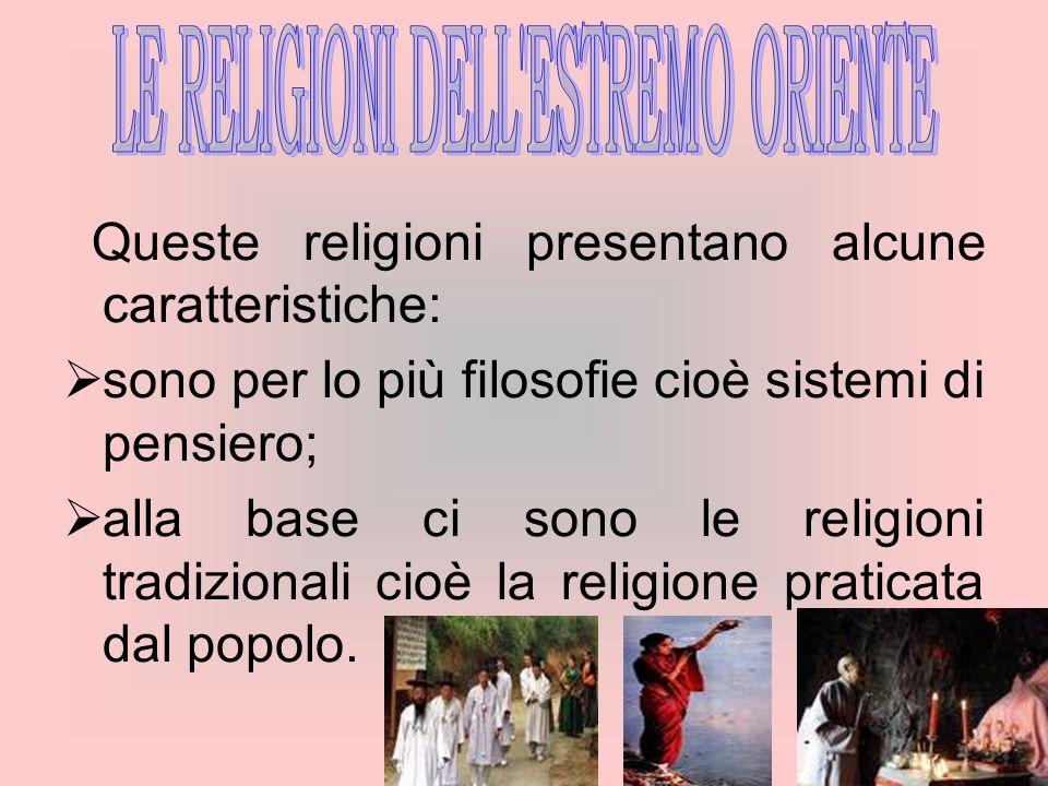 LE RELIGIONI DELL ESTREMO ORIENTE