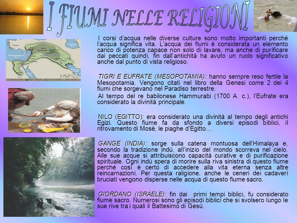 I FIUMI NELLE RELIGIONI