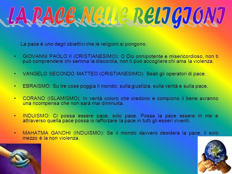 LA PACE NELLE RELIGIONI