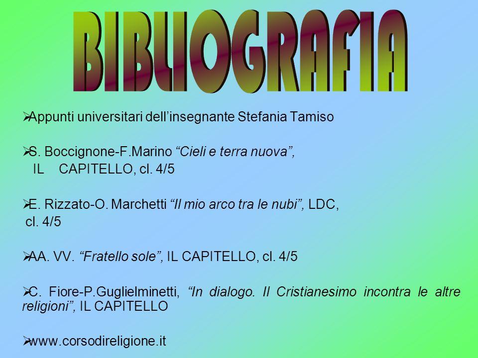 BIBLIOGRAFIA Appunti universitari dell'insegnante Stefania Tamiso