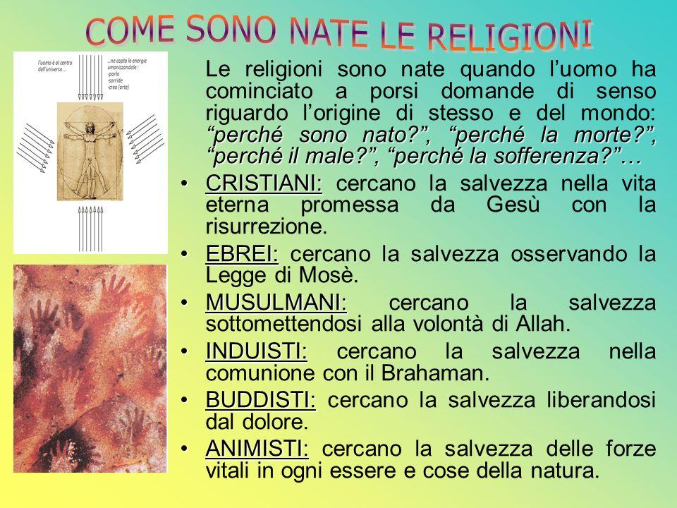 COME SONO NATE LE RELIGIONI