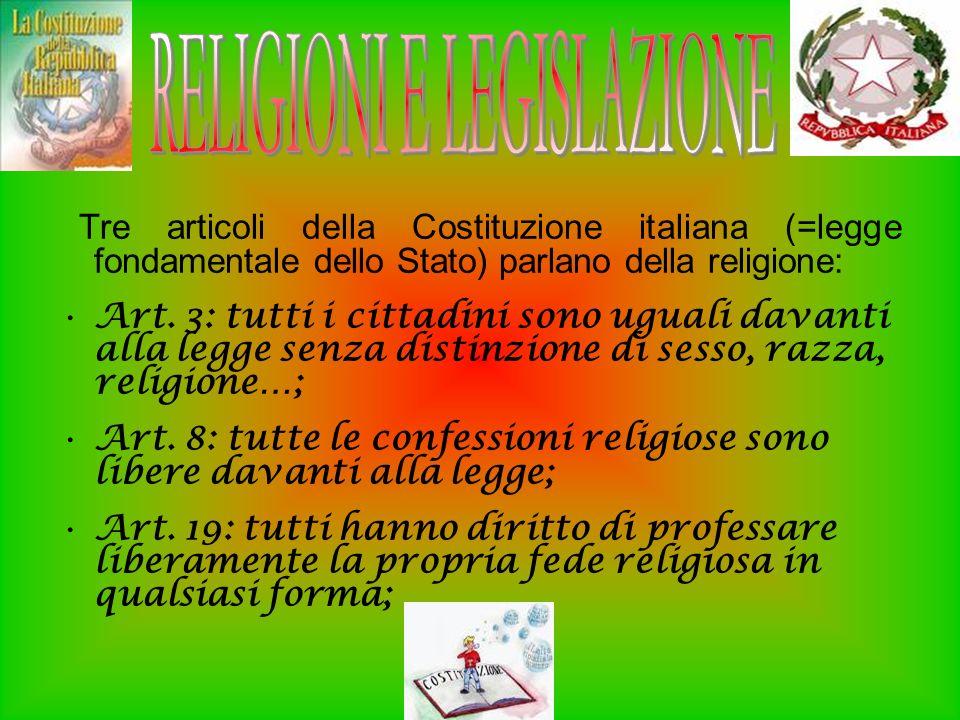 RELIGIONI E LEGISLAZIONE