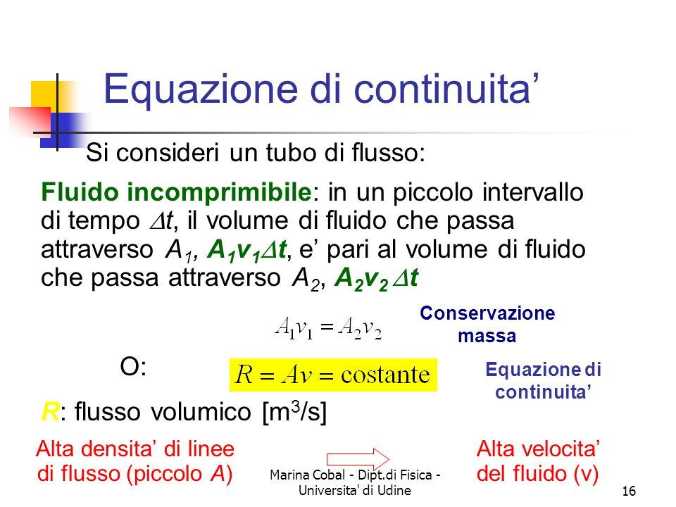 Equazione di continuita'