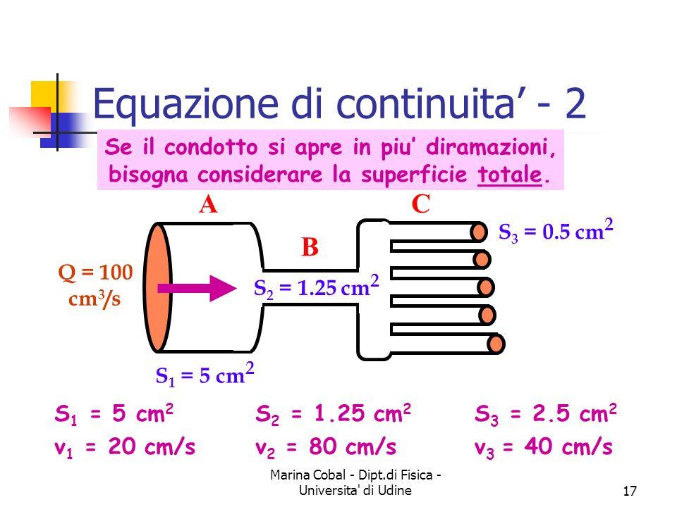 Equazione di continuita' - 2
