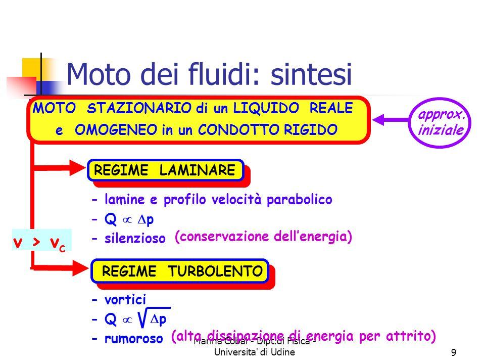 Moto dei fluidi: sintesi