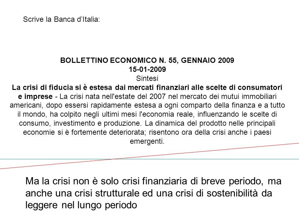 BOLLETTINO ECONOMICO N. 55, GENNAIO 2009
