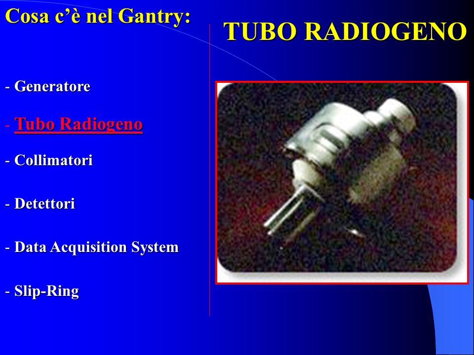TUBO RADIOGENO Cosa c'è nel Gantry: Generatore Tubo Radiogeno