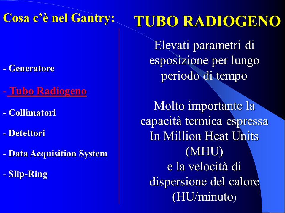 TUBO RADIOGENO Cosa c'è nel Gantry: