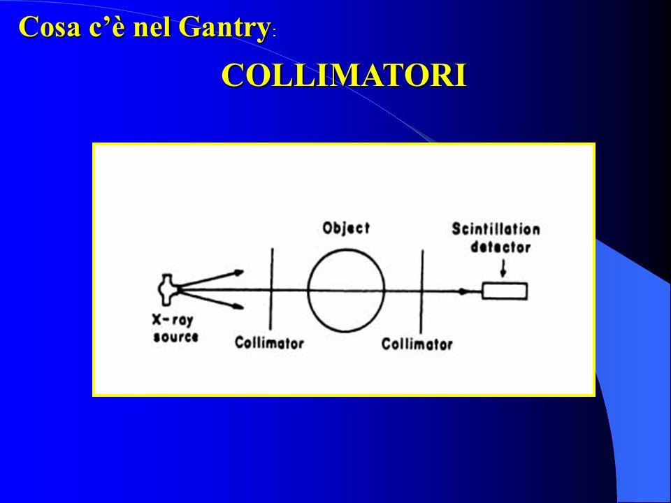 Cosa c'è nel Gantry: COLLIMATORI